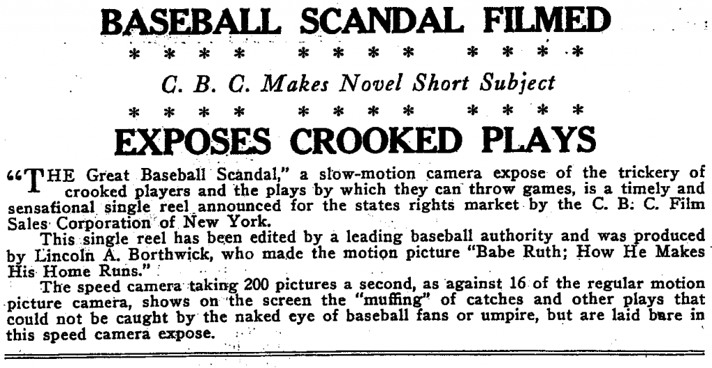 """The Great Baseball Scandal"""